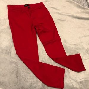 Red Ankle Pants from Mango